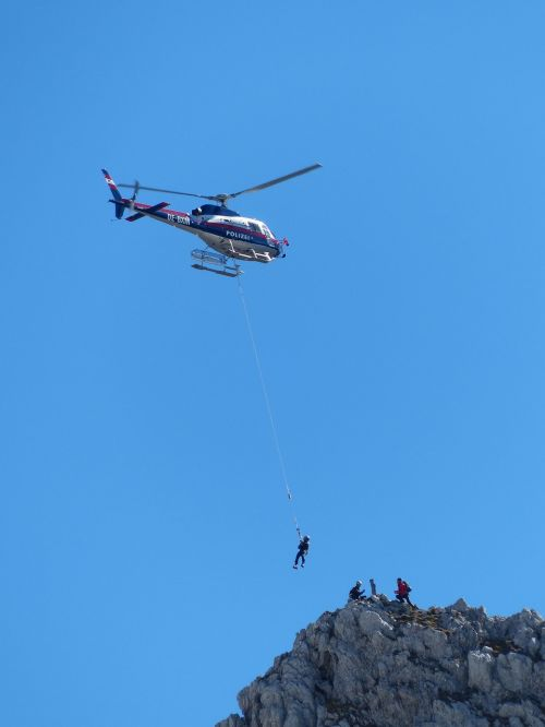 helicopter police mountain rescue