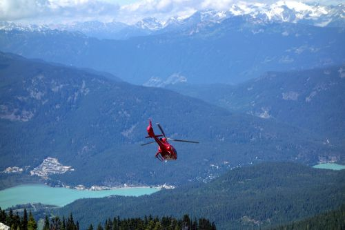 helicopter mountains aircraft