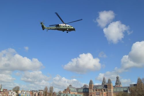helicopter obama amsterdam