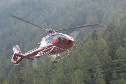 helicopter  air zermatt  zermatt