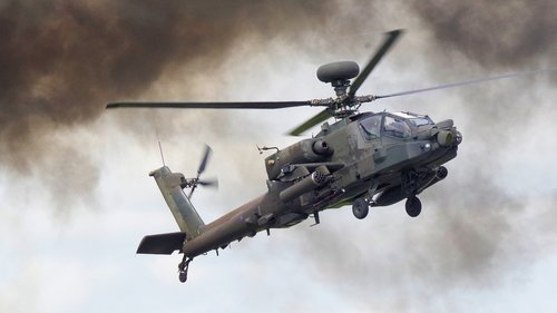 helicopter  apache  military