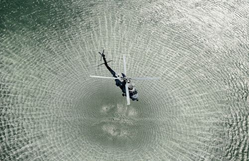 helicopter open water chopper