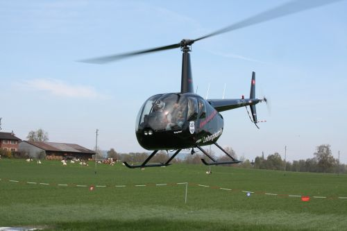 helicopter departure fly