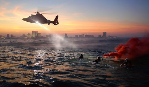 helicopter coast guard rescue training