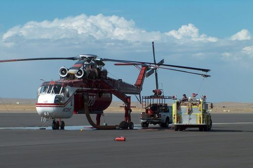 helicopter fire truck hose