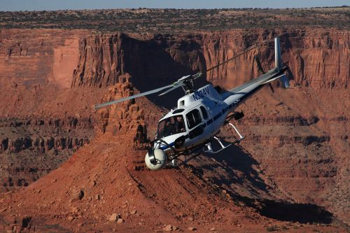 helicopter travel utah state parks