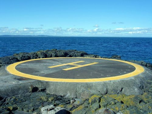 helicopter pad landing sea