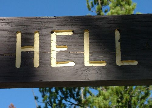 hell sign warning
