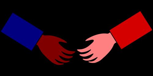 hello handshake greet