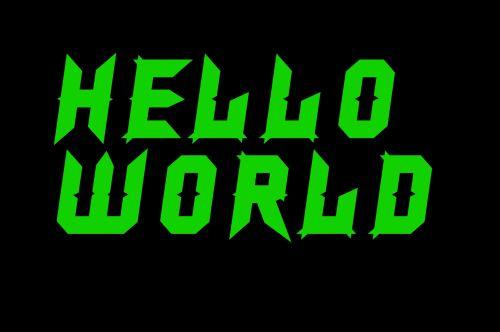 Hello World Digital Message