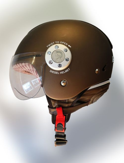 helmet brown motorcycle