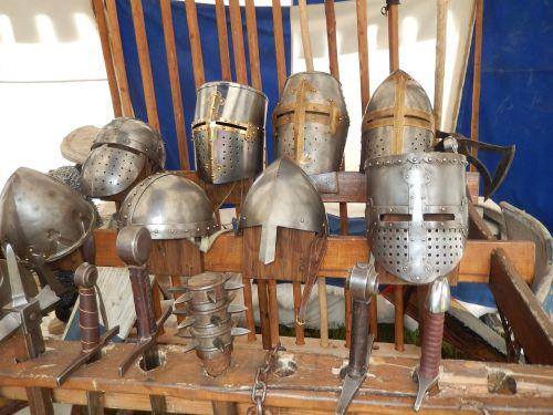 helmets former middle ages