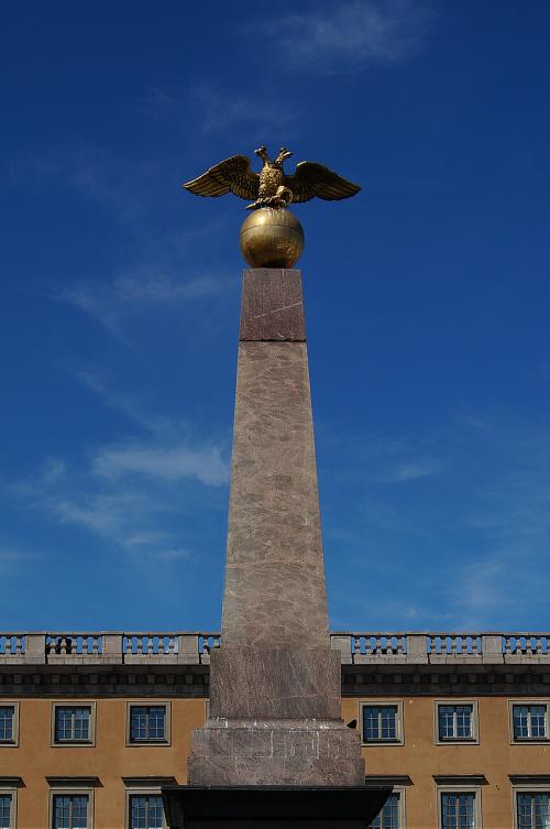 helsinki statue double headed eagle