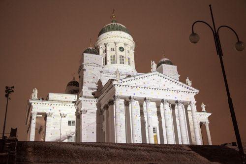 helsinki cathedral lux helsinki light show