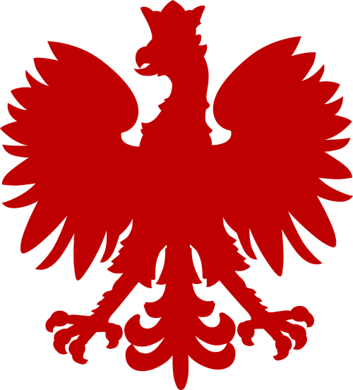heraldic animal eagle red