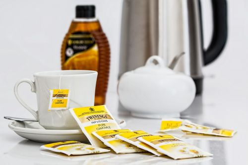 herbal tea teabags beverage