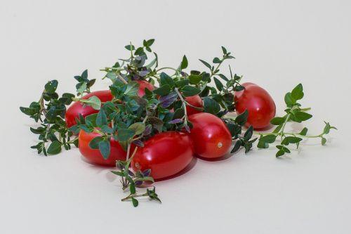 herbs thyme tomatoes