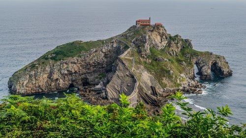 hermitage  basque country  landscape