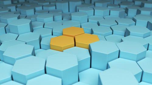 hex hexagonal abstract