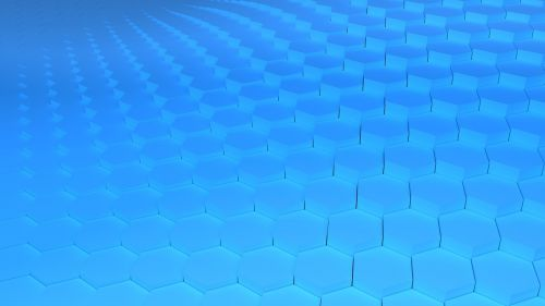 hex grid blue