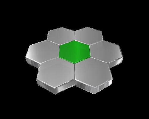 hexagon grid metal