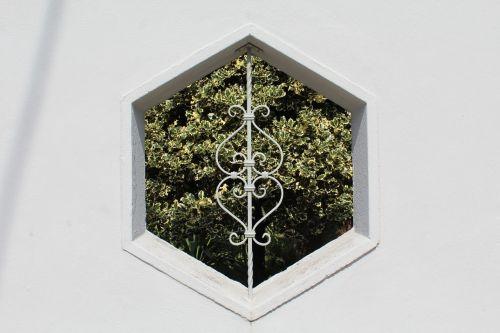 hexagon window wall