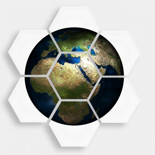 hexagon diamond earth