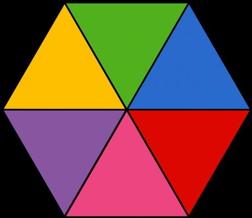 hexagon colorful geometric