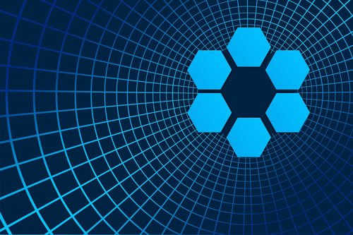 hexagon  block chain  pattern