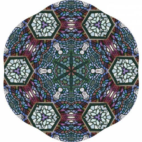 Hexagon Kaleidoscope Design