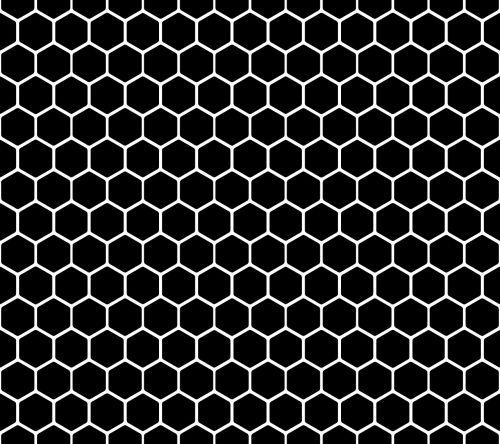 hexagon pattern pattern black and white