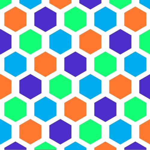 Hexagon Pattern Seamless Wallpaper