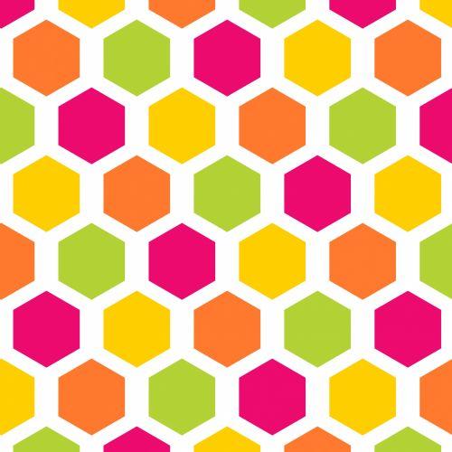 Hexagon Seamless Pattern Wallpaper