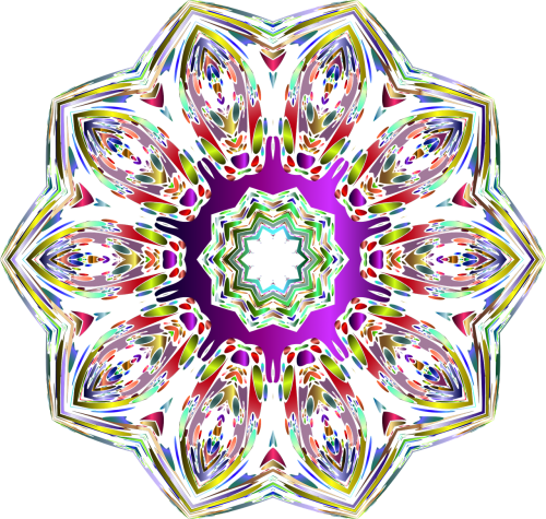 hexagonal star colorful