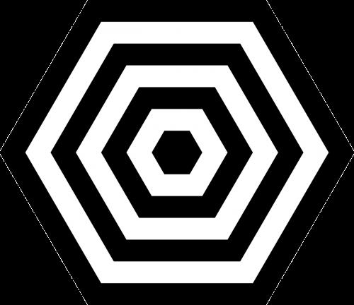 hexagonal symmetry concentrical