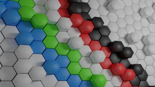 hexagonal wallpaper random