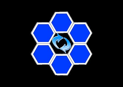 hexagons arrows diamond