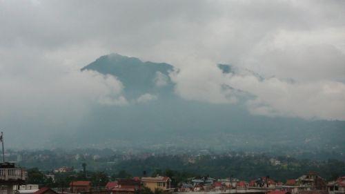 debesis, debesys, kalnas, kalnas, katmandu, Nepalas, laukas, miestas, paslėpta, lietus, musonas, paslėptos Katmandu kalvos