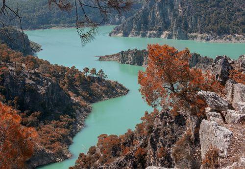 hidden paradise arch dam blue