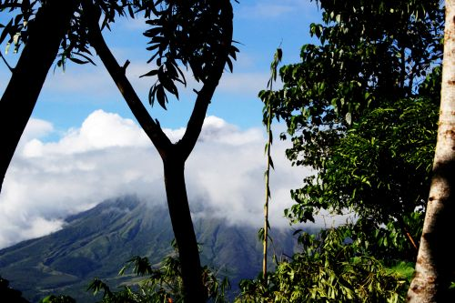 vulkanas, gamta, debesys, gražus, dangus, mėlynas & nbsp, dangus, Mayon & nbsp, vulkanas, puikus & nbsp, kūgis & nbsp, iš & nbsp, ugnikalnio, objektas, fonas, tapetai, kalnas, slepiasi vulkanas
