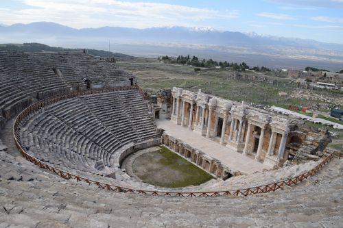 hierapolis theatre ruin turkey