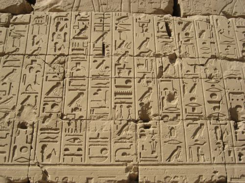 hieroglyphics egypt luxor