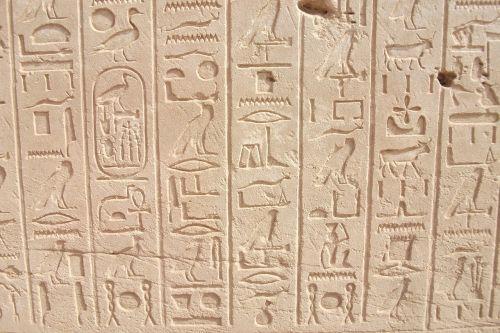 hieroglyphics pharaohs egypt