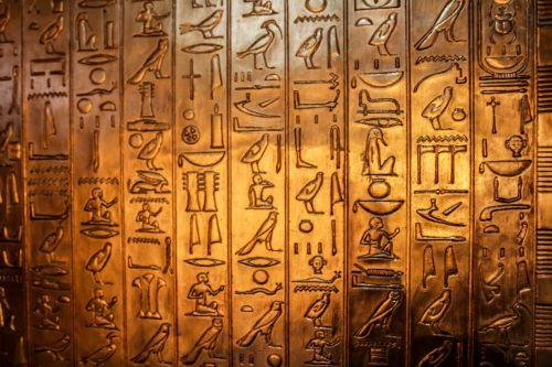 hieroglyphics characters golden