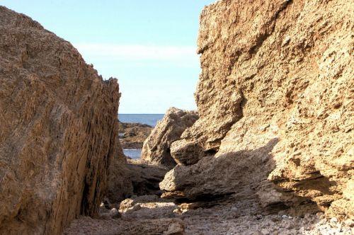 High Cliffs At Beach