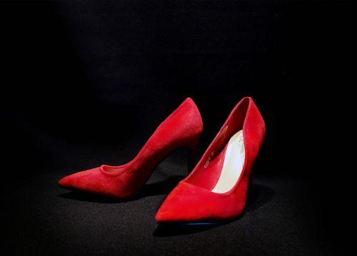 high heels red black