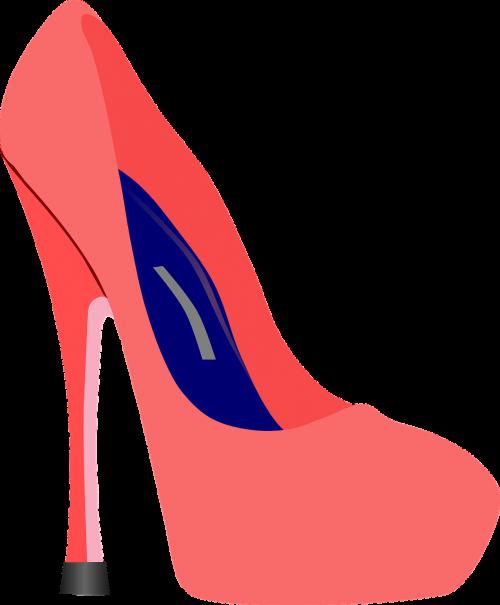 high heels pink blue