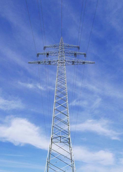 high mast power line high voltage