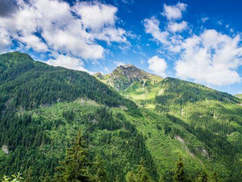 high mountains landscape alpine