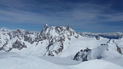 high mountains chamonix grand jorasses